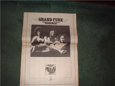 1972 GRAND FUNK PHOENIX POSTER TYPE AD