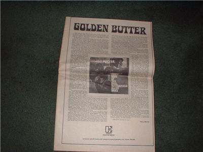 1972 PAUL BUTTERFIELD BLUES BAND POSTER TYPE AD