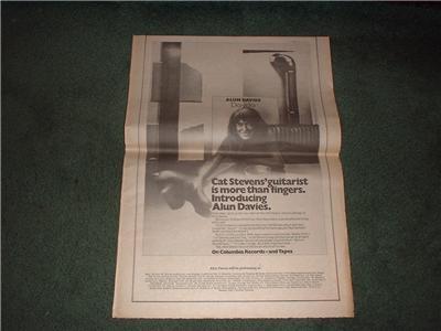 1972 ALUN DAVIES DAYDO POSTER TYPE AD