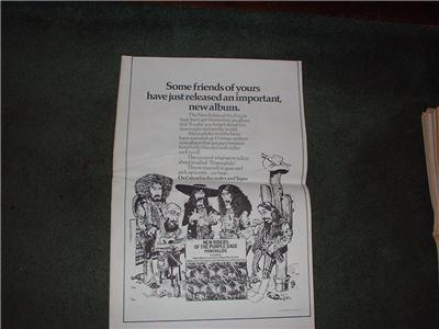 1972 NEW RIDERS OF THE PURPLE SAGE POSTER TYPE AD