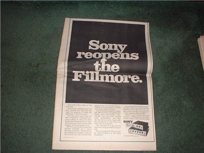 1972 SONY SQ SYSTEM POSTER TYPE AD