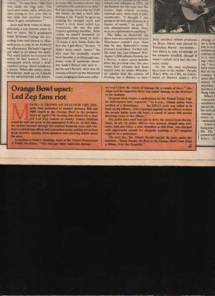 * 1977 LED ZEPPELIN ARTICLE AD WRITE UP 1-PG