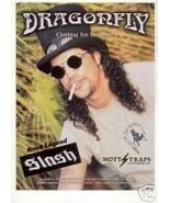SLASH GUNS N ROSES DRAGONFLY CLOTHING PROMO AD 2001 - $6.99