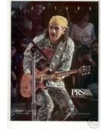CARLOS SANTANA PAUL REED SMITH PROMO AD 1995 - $7.99