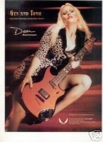 DEAN TONIC S GUITAR PROMO AD GENITORTURERS 2001
