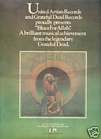 GRATEFUL DEAD BLUES FOR ALLAH POSTER TYPE PROMO AD 1975