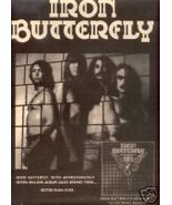 IRON BUTTERFLY SCORCHING BEAUTY PROMO AD 1975 - $9.99