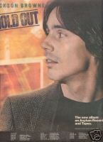 JACKSON BROWNE HOLD OUT PROMO AD 1980