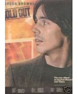 JACKSON BROWNE HOLD OUT PROMO AD 1980 - $8.99