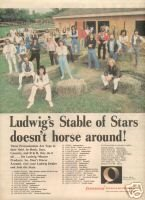 LUDWIG DRUMS STABLE OF STARS PROMO AD 1980