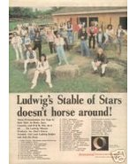 LUDWIG DRUMS STABLE OF STARS PROMO AD 1980 - $7.99