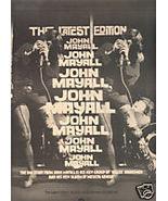 JOHN MAYALL POSTER TYPE PROMO AD 1974 - $8.99