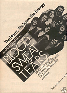 BLOOD SWEAT & TEARS NEW CITY POSTER TYPE PROMO AD 1975
