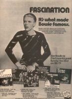 DAVID BOWIE FASCINATION PROMO AD 1975