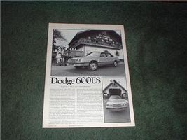 1983 Dodge 600ES 600 Es Road Test Car Ad 5-PAGE - $8.99