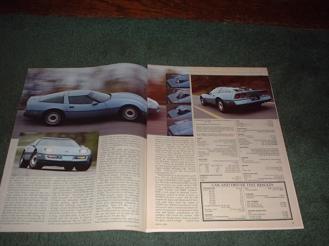 1983 CORVETTE ROAD TEST CAR AD 5-PAGE