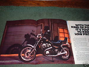 1983 HONDA SHADOW 750 MOTORCYCLE AD 4-PAGE
