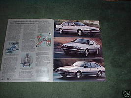 1983 MAZDA 626 BROCHURE CAR AD 4-PAGE - $10.99