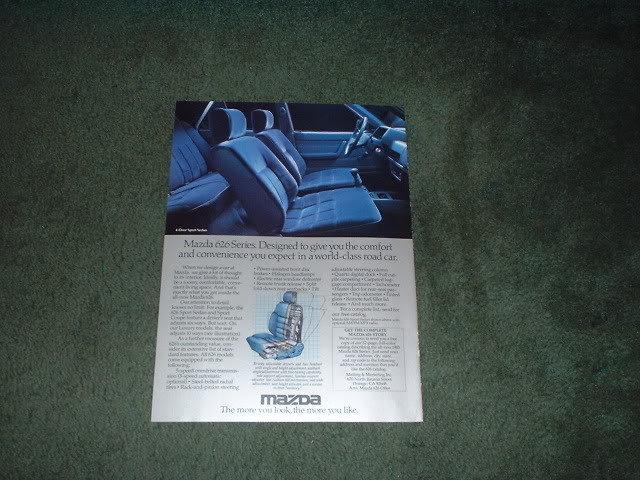 1983 MAZDA 626 BROCHURE CAR AD 4-PAGE