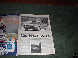 1983 MITSUBISHI TREDIA LS ROAD TEST CAR AD 5-PAGE