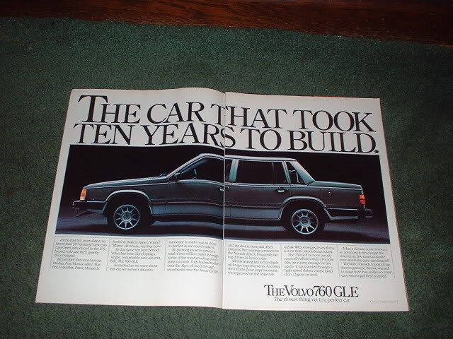1983 1984 VOLVO 760 GLE CAR AD 2-PAGE