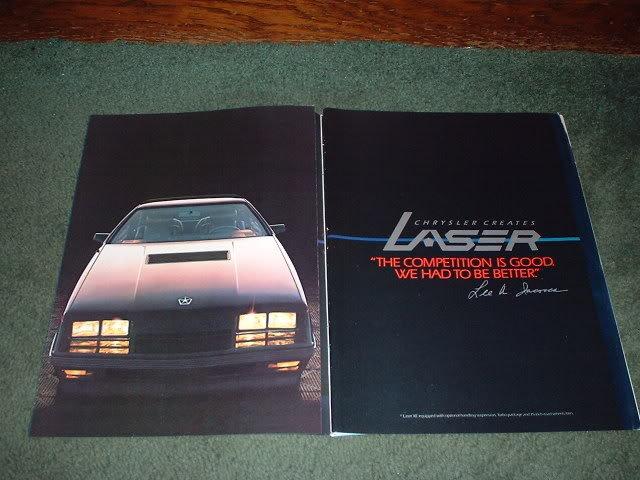 1983 1984 CHRYSLER LASER CAR AD 4-PAGE