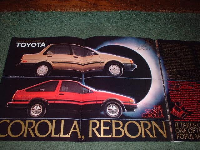 1983 1984 TOYOTA COROLLA CAR AD 4-PAGE
