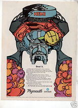 1968 PLYMOUTH CHRYSLER HEMI MOTOR AD - $5.74