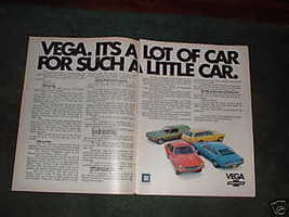 1971 CHEVY VEGA VINTAGE CAR AD - $5.06
