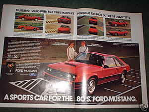 1980 FORD MUSTANG TURBO CAR AD