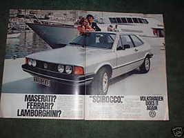 1980 VOLKSWAGEN SCIROCCO CAR AD - $5.06
