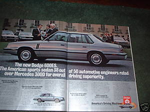 1983 DODGE 600 ES CAR AD 2-PAGE