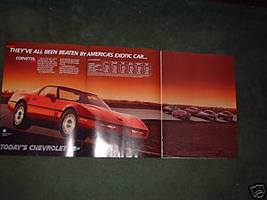 1985 CHEVY CORVETTE VINTAGE CAR AD 4-PAGE