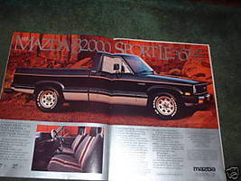 1984 1985 MAZDA B2000 SPORT LE VINTAGE TRUCK AD 2-PAGE - $5.99