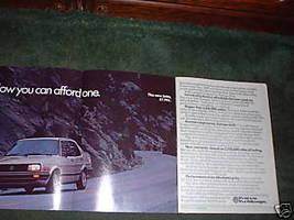 1984 1985 VOLKSWAGEN JETTA VINTAGE CAR AD 4-PAGE - $5.99