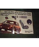 1984 1985 MERCURY COUGAR XR7 XR-7 TURBO CAR AD 2-PAGE - $5.99