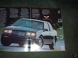 1984 1985 BUICK SOMERSET VINTAGE CAR AD 2-PAGE