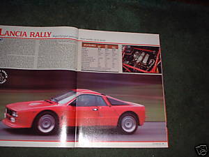 1984 LANCIA RALLY ORIGINAL ROAD TEST 4-PAGE