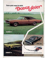 1968 DODGE SCAT PACK BROCHURE AD CHARGER CORONET DART - $28.99