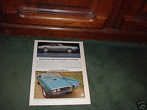 1967 1968 PONTIAC FIREBIRD 400 AND HO VINTAGE CAR AD