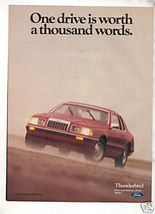 1984 FORD THUNDERBIRD VINTAGE CAR AD - $6.99