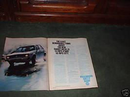 1978 VOLKSWAGEN RABBIT VINTAGE CAR AD 2-PAGE - $6.99