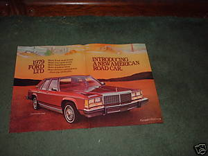 1979 FORD LTD VINTAGE CAR AD 2-PAGE