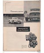 1958 MASERATI GRAN TURISMO 3.5 VINTAGE CAR DRIVER AD - $6.99