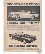 1958 SUNBEAM RAPIER VINTAGE CAR AD - $6.99