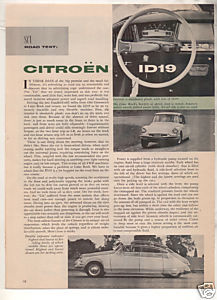 1958 CITROEN ID19 VINTAGE ROAD TEST 3-PAGE