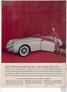 1958 JAGUAR XK150 XK 150 ROADSTER VINTAGE CAR AD