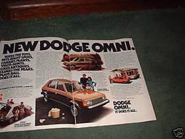1978 1979 Dodge Omni Vintage Car Ad 2-PAGE - $5.94