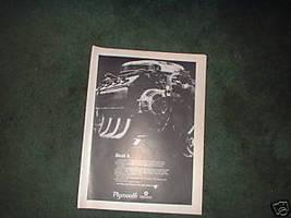 1967 1968 Plymouth Dodge Hemi Motor Ad - $5.94