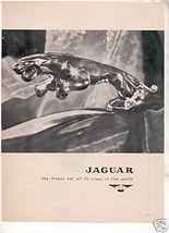 1957 JAGUAR VINTAGE CAR AD - $5.94